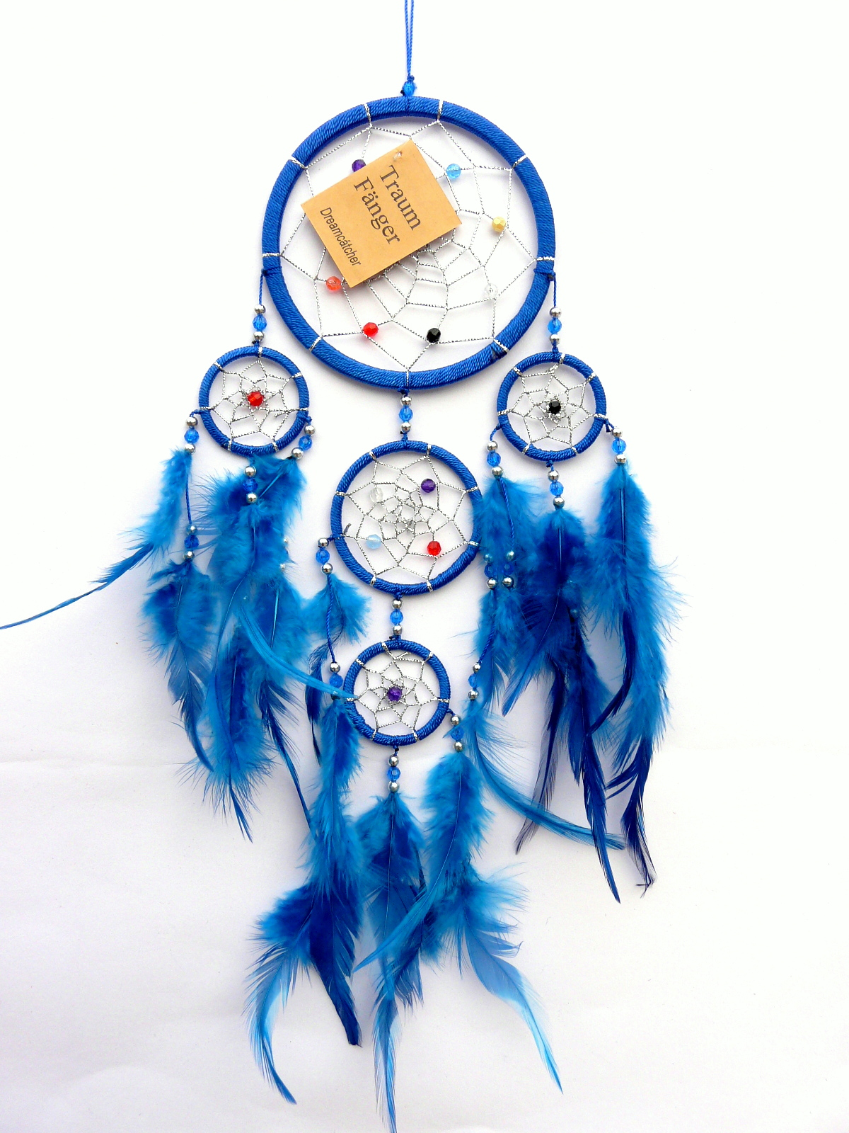 traumf nger dreamcatcher indianer amulett schwarz blau lila t rkis wei rosa neu ebay. Black Bedroom Furniture Sets. Home Design Ideas